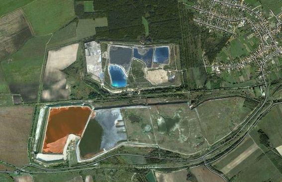 Aerial View Before Disaster in Hungary, by Google Imagery